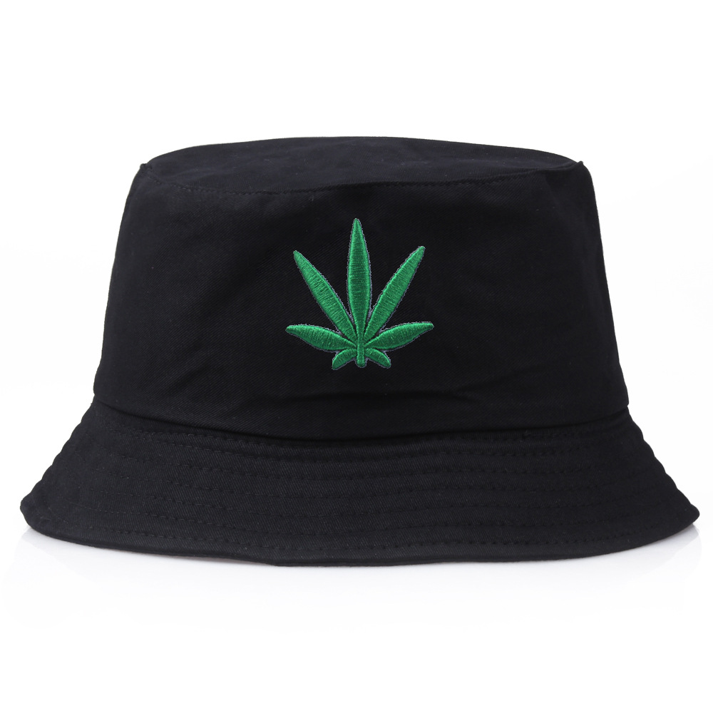 3 Colors Maple Leaf Bucket Hat Summer Hat Hemp Leaf Women Men Panama Flat Caps Sun Embroidery Visor Fishing Fisherman Bob Hat