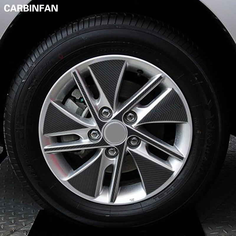 16 дюймов Автомобильный Стайлинг внешняя наклейка черный углеродное волокно виниловая наклейка на ступицу колеса 60 шт./компл. для Citroen C Quatre C4 Наклейки на автомобиль      АлиЭкспресс