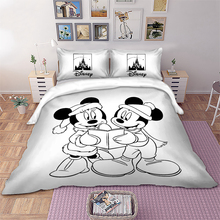 Mickey and Minnie Reading Bedding set Disney Kids Duvet Cover Pillowcases Twin Full Queen King Size beddings 3pcs
