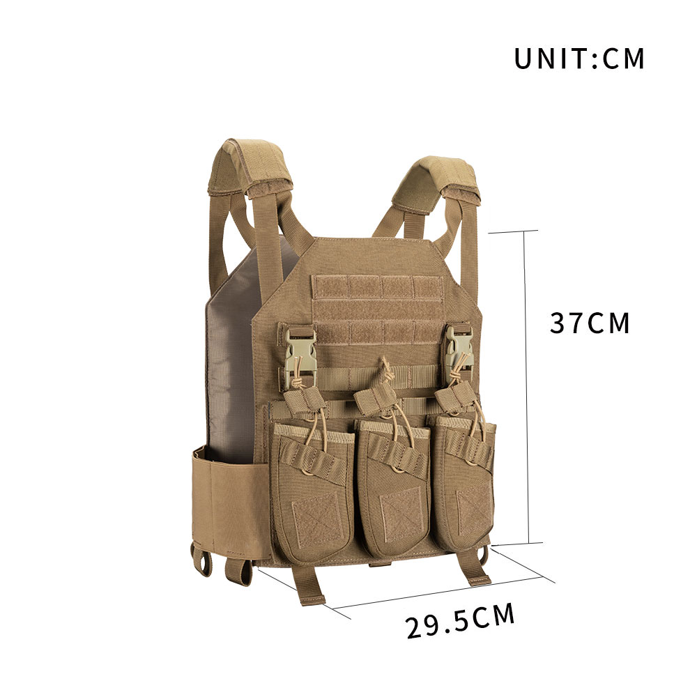 Outdoor Hunting Vests Tactical Plate Vest+AK 47 Triple Ammo Clips Military  Vest Tactical Military Vests