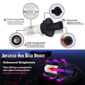 Image 2 - Gtinthebox 2PCS Error Free PH24W PHC24WY 10 SMD LED Front Turn Signal Light Bulbs For Audi Cadillac GMC Porsche etc Amber White