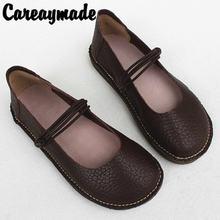 Женские туфли careaymade в стиле ретро на плоской мягкой подошве