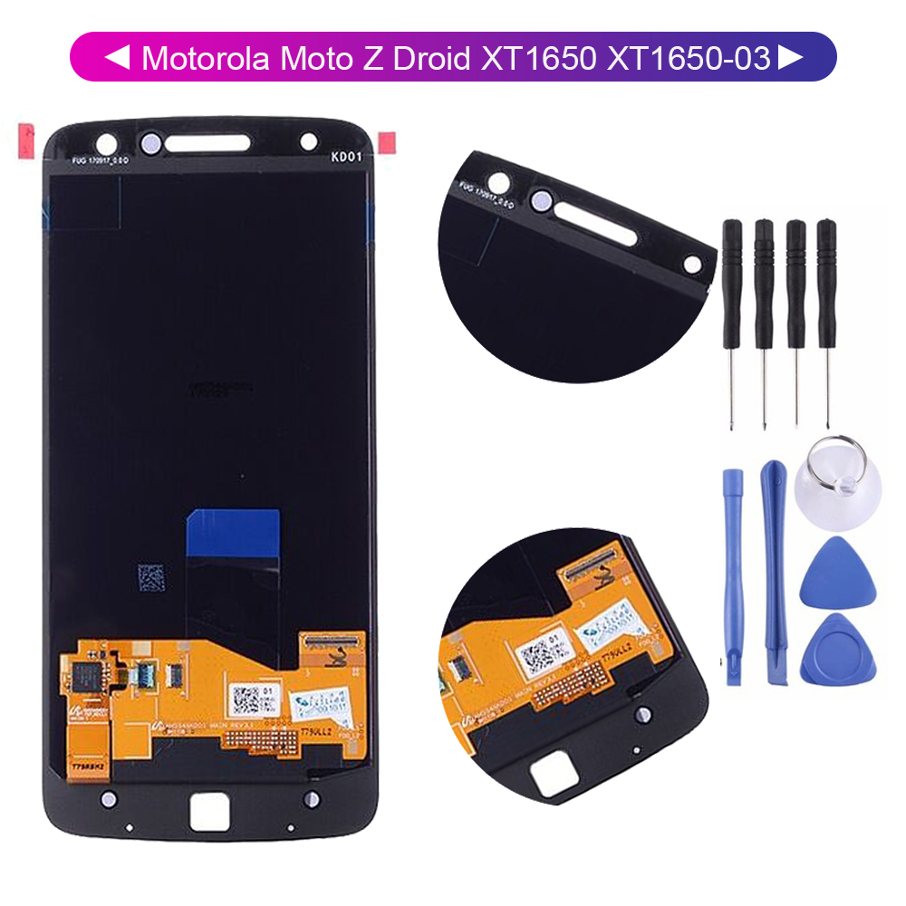 For Motorola Moto Z Droid <font><b>XT1650</b></font> <font><b>XT1650</b></font>-03 <font><b>LCD</b></font> Display Screen Digitizer with Touch Panel Glass Sensor Assembly image