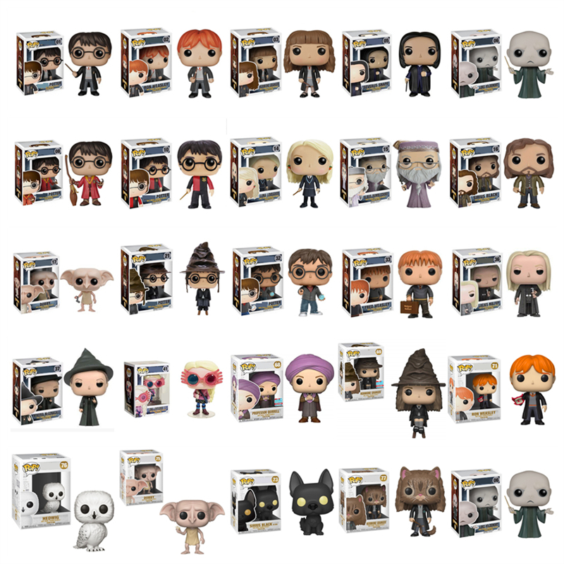 Funko pop Official Potter Snape Rubeus Luna Dobby RON WEASLEY Action Figures Figurine Pop Collectible Model Toys Christmas Gifts figurine