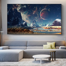 Universe Stars Planets Landscape Canvas Painting Posters And Prints Space Exoplanet Galaxy Wall Art Picture For Living Room