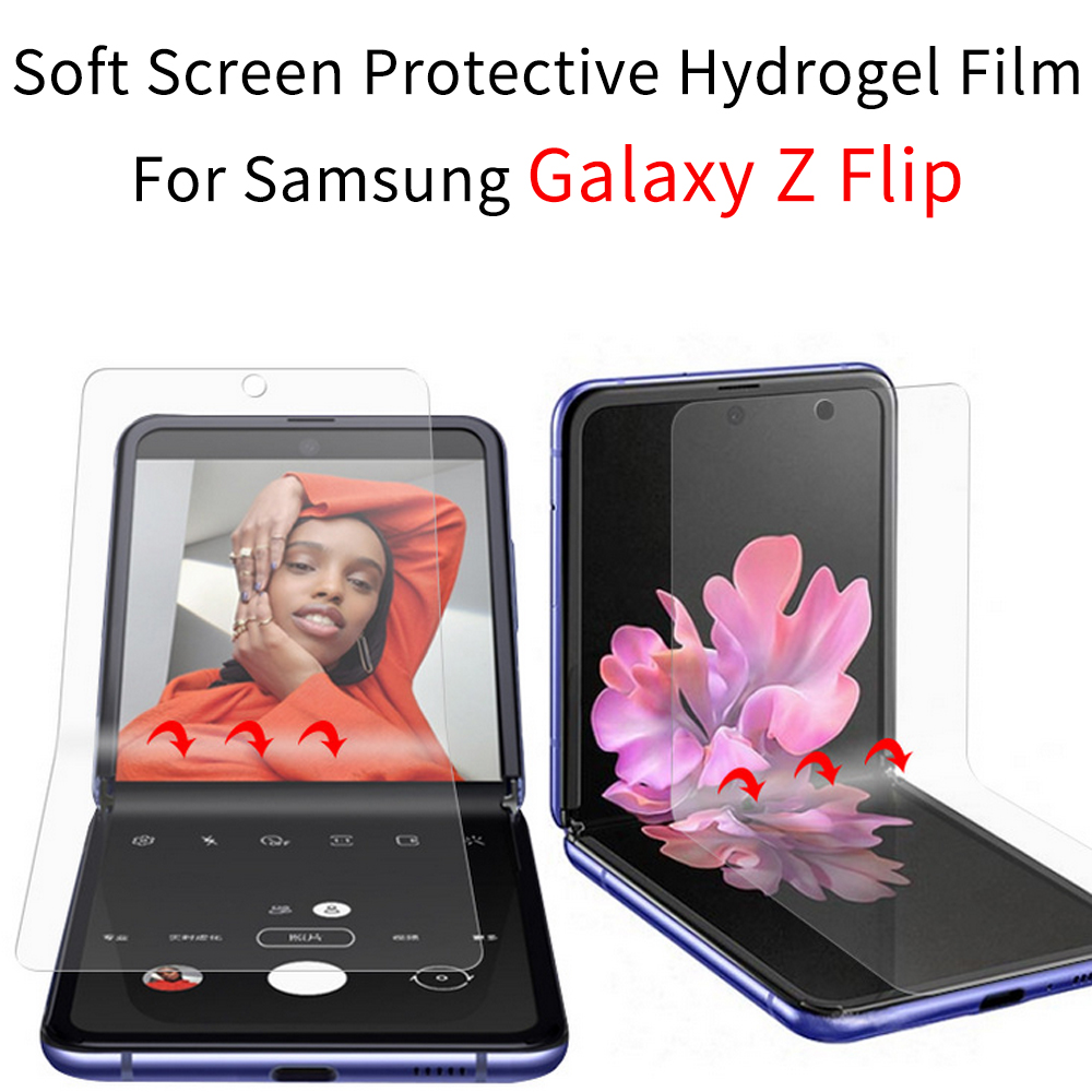 For Samsung Galaxy Z Flip Film Galaxy Z Flip Case Hydrogel Film  For Samsung Galaxy Z Flip Soft Screen Protective Transparent
