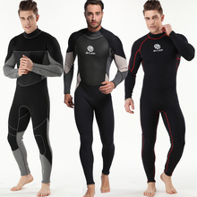 New One-Piece 3mm Neoprene Diving Suit Winter Long Sleeve Men Wetsuit Avoid Jellyfish Snorkeling Suit Free Shipping free shipping one pieces long sleeve professional scuba diving 5mm neoprene wetsuit clothing