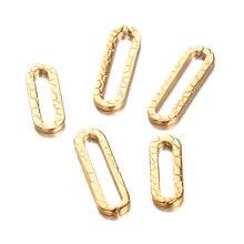 20 штук золота овальной формы из нержавеющей стали подвески тиснение вышитые бисером серьги