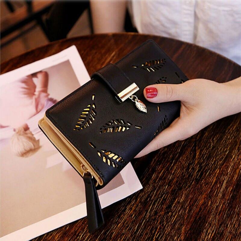 Women Wallet Clutch PU Leather Wallet Long Card Cash Holder Phone Bag Case Purse Lady Handbags  /BY