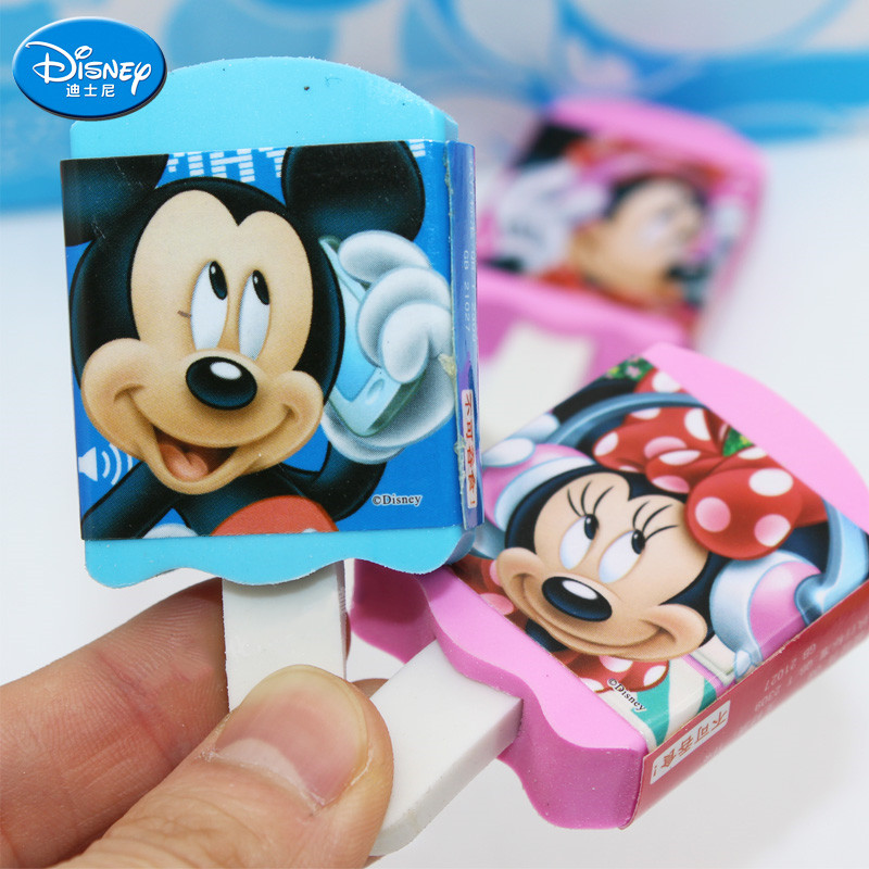 Disney Ice Cream Modeling Eraser Mickey Minnie Novelty Erasers Prizes For Kids Child Stationery Learning Partner School Supplies