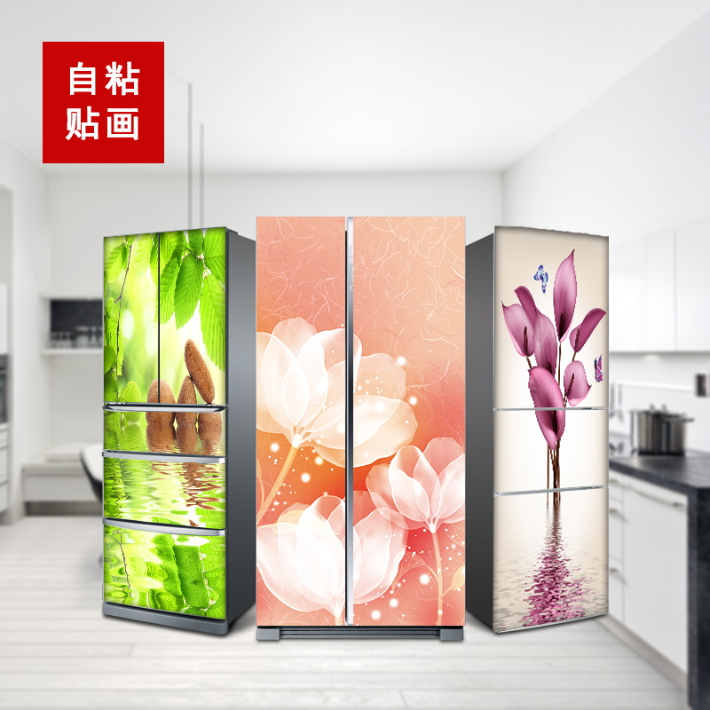 60*150 см нордический водонепроницаемый мультяшный магнит на холодильник в шкафу обновленная Настенная Наклейка креативный Милый лось декоративный плакат пленка на холодильник - 2