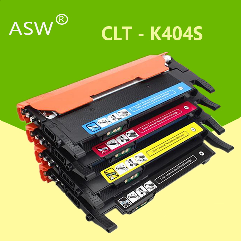 ASW Toner Cartridge CLT-K404S M404S C404S CLT-Y404S 404S Compatible For Samsung C430W C433W C480 C480FN C480FW C480W Printer