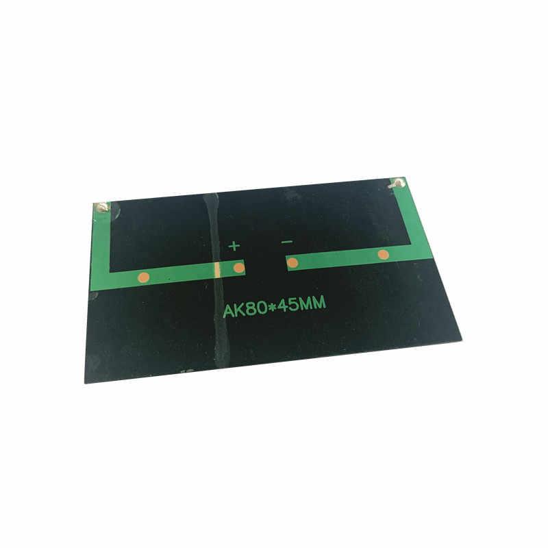 1 قطعة البسيطة أحادية 80*45 مللي متر لوحة طاقة شمسية 5V 75MA ل لوحة شمسية مصغرة شحن و توليد الكهرباء مع مصغرة الشمسية يبو شاحن
