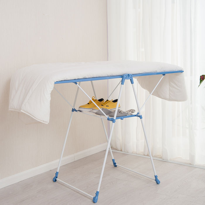 Wing Shape Foldable Laundry Clothes Storage Drying Rack Airer Portable Dryer Hanger Organizer Pole Indoor outdoor Balcony DQ0820 - 6