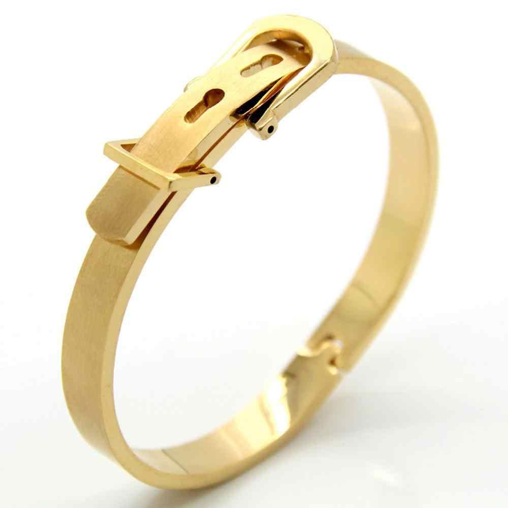 גבוהה באיכות נירוסטה צמיד צמידי זהב כסף רוז זהב צבע אופנה מסיבת תכשיטי צמיד מתנה בשבילה