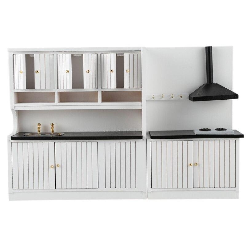 1:12 Dollhouse Miniature Furniture Wooden Kitchen Set