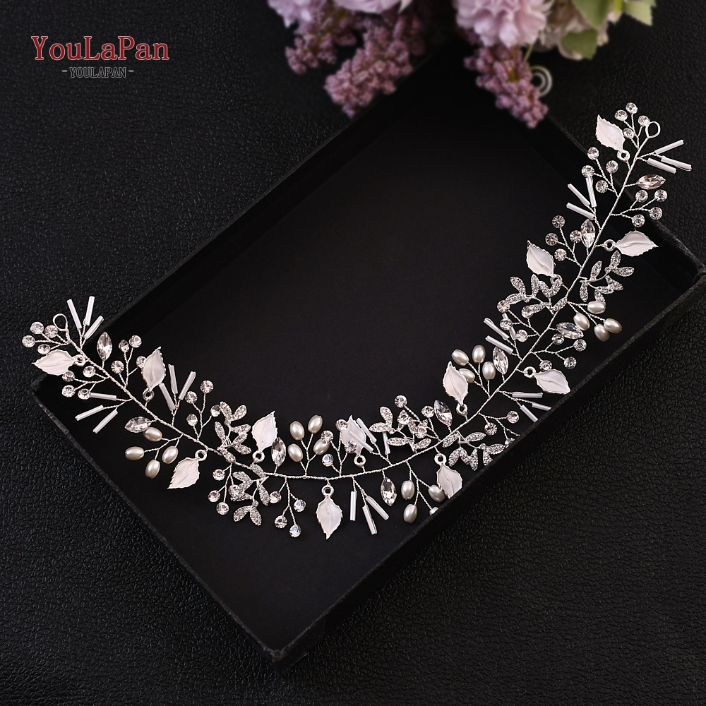 YouLaPan Bridal Headpieces Wedding Tiara for Bride Tiaras for Women Silver Bridal Headband Diamond Headpiece Hair Jewelry HP290