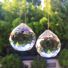 Clear Crystal Pendants-Accessories Curtain Hanging-Ornament Prisms Suncatcher Bead DIY