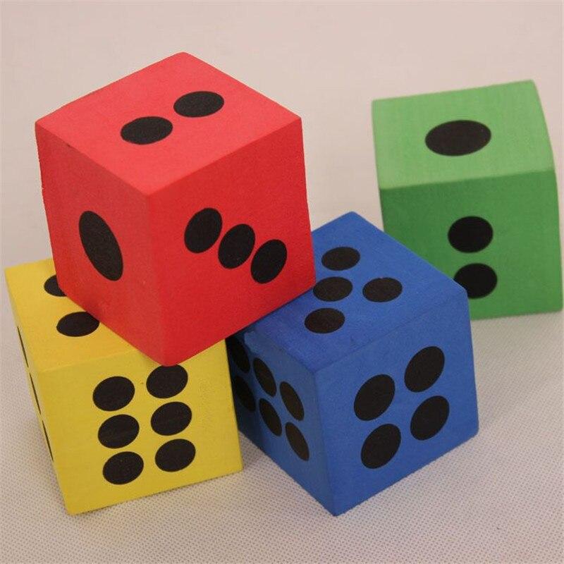 1 шт. 6,3*6,3*6,3 см большой EVA пены точка кости для Математика обучающая игрушка обучающие игрушки Кемпинг Пеший Туризм игральные кости куб