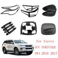 Außen Zubehör Scheinwerfer Rücklicht Abdeckung Tür Griff Schüssel Tank Rückspiegel Abdeckung Für Toyota SUV FORTUNER SW4 2016 +-in Chrom-Styling aus Kraftfahrzeuge und Motorräder bei