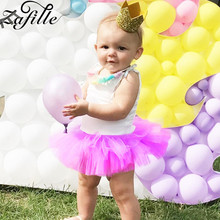 ZAFILLE 2020 Cute Baby Clothing Solid Patchwork Infant Dress Mesh Kids Summer Girl Clothes Princess Tutu