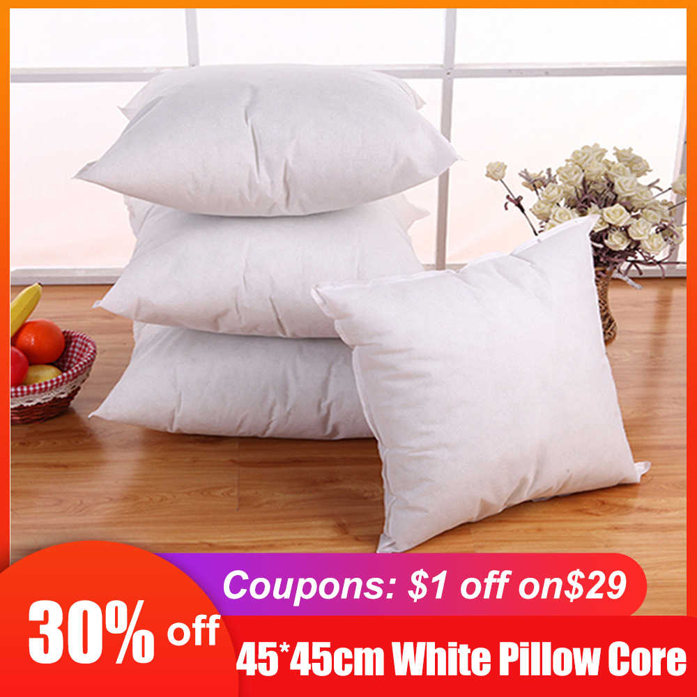 Cushion Pillow Inserts Pillow Filling Square Cushion Pillow Inserts Core Sofa Bed Pillows White 40*40 45*45