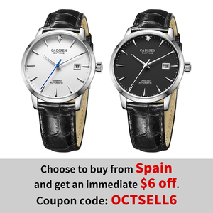 Image 2 - CADISEN Men Watches Automatic Mechanical Wrist Watch MIYOTA 9015 Top Brand Luxury Real Diamond Watch Curved Sapphire Glass Clock