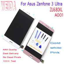 WEIDA 6.8 For Asus Zenfone 3 Ultra ZU680KL A001 LCD Display Touch Screen Digitizer Assembly Replacement Free Tools & Tape защитное стекло liberty project tempered glass для asus zenfone 3 ultra zu680kl 0l 00030590