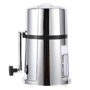 Portable Manual Ice Crusher Commercial Household Portable Shaved Ice Crusher with Stainless Steel Blade недорого
