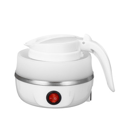 800W 600ml Mini Foldable Electric Kettles Silicone Travel Electric Kettle 220V Portable Water Boiler Collapsible Camping Kettle
