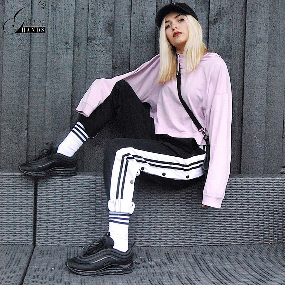 Gold Hands Pants Women Hollow Out Split Open Pants Harajuku Cargo Streetwear Loose Workout Wide Leg Pants Trousers Sweatpants
