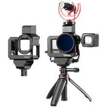 Ulanzi G9 5 GoPro 9 سبائك الإسكان المعادن كاميرا قفص مع الباردة حذاء ل Vlog التصوير Gopro بطل 9 كاميرا الملحقات