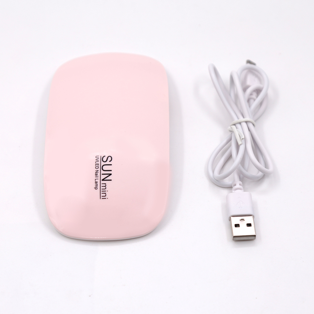 Image 2 - SUNmini 6w UV LED Lamp Nail Dryer Portable USB Cable For Prime Gift Home Use Gel Nail Polish Dryer Mini USB LED UV lamps-in Nail Dryers from Beauty & Health