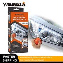 VISBELLA Headlamp Polishing Paste Kit DIY Headlight Hestoration System for Car Care Repair Hand Tool Sets Lamp Lense  by Manual