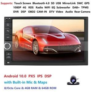 Image 4 - 4GRAM 64ROM 8 Nhân 7 Android 10.0 Tự Động Phát Thanh 2DIN Đa Năng Ô Tô Xe Không Đầu DVD GPS Stereo Âm Thanh đầu Đơn Vị Hỗ Trợ Bluetooth DAB