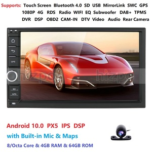 Image 4 - 4GRAM 64ROM 8Cores 7 Android 10.0 Auto Radio 2DIN Universal Car NO DVD player GPS Stereo Audio Head unit Support Bluetooth DAB
