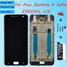 5.5 עבור ASUS Zenfone 4 Selfie ZD553KL X00LD LCD תצוגת לוח מגע מסך Digitizer מסגרת לבן שחור