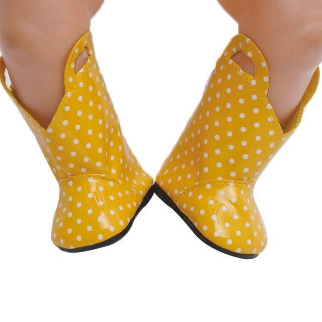 43 cm baby dolls shoes newborn Yellow