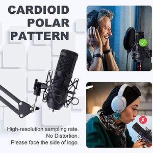 Image 5 - Micrófono de condensador USB para ordenador, Kit de micrófono de transmisión de Podcast, PC, 192KHZ/24 bits