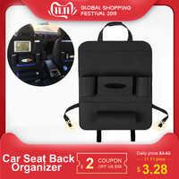 Multi-Pocket Car Seat Back Organizer Wool Felt Storage Container Hanging Box Multifunction Vehicle Storage Bag Car-styling
