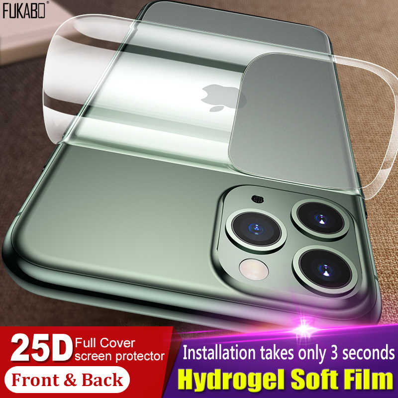 25D Matte Full Cover Hydrogel Film For iPhone 11 Pro XR 7 8 Plus XS Max X Screen Protector For iPhone 7 6s 6 Plus Film Not Glass