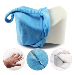 Comfort Memory Foam Knee Pillow Leg Body Cushions Support Elastic Pure For Sciatica Relief Back Pain Hip With Washable Cover