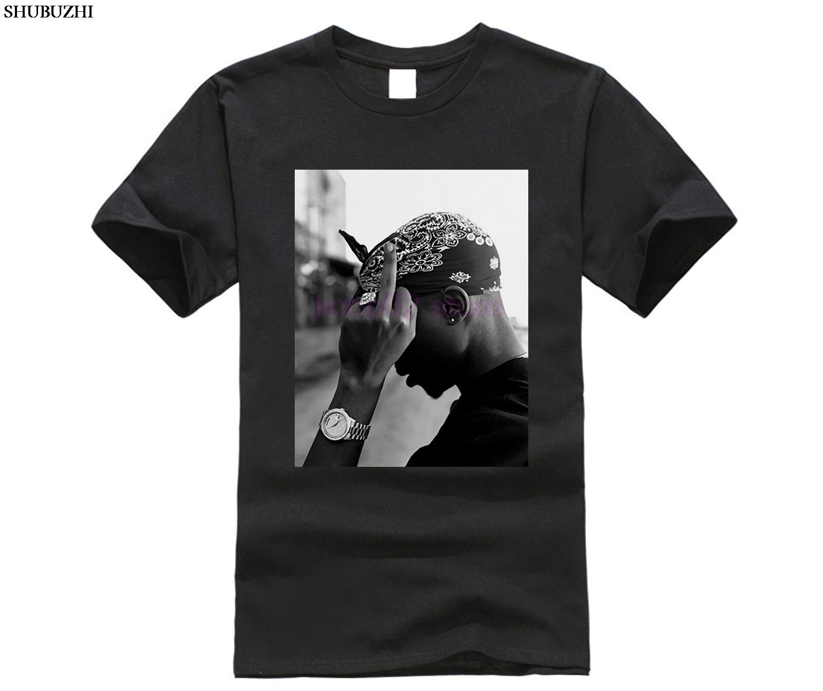 Side 2Pac Mid Finger Tupac Amaru Shakur PAC Makaveli Digital Underground T-Shirt