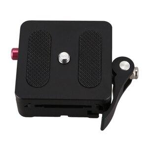 Image 1 - FULL อลูมิเนียม1/4นิ้ว & 3/8นิ้วแผ่น + Clamp Mount W/ล็อคสำหรับDslrกล้องขาตั้งกล้องMonopod Ball Arca