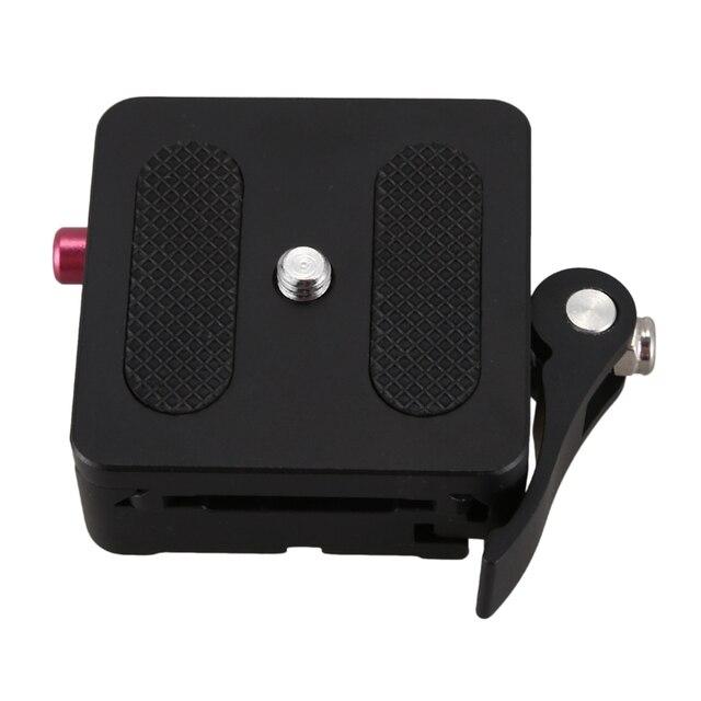 FULL Aluminum 1/4 inch & 3/8 inch Quick Release Plate + Clamp Adapter Mount W/Lock for Dslr Camera Tripod Monopod Ball Head Arca