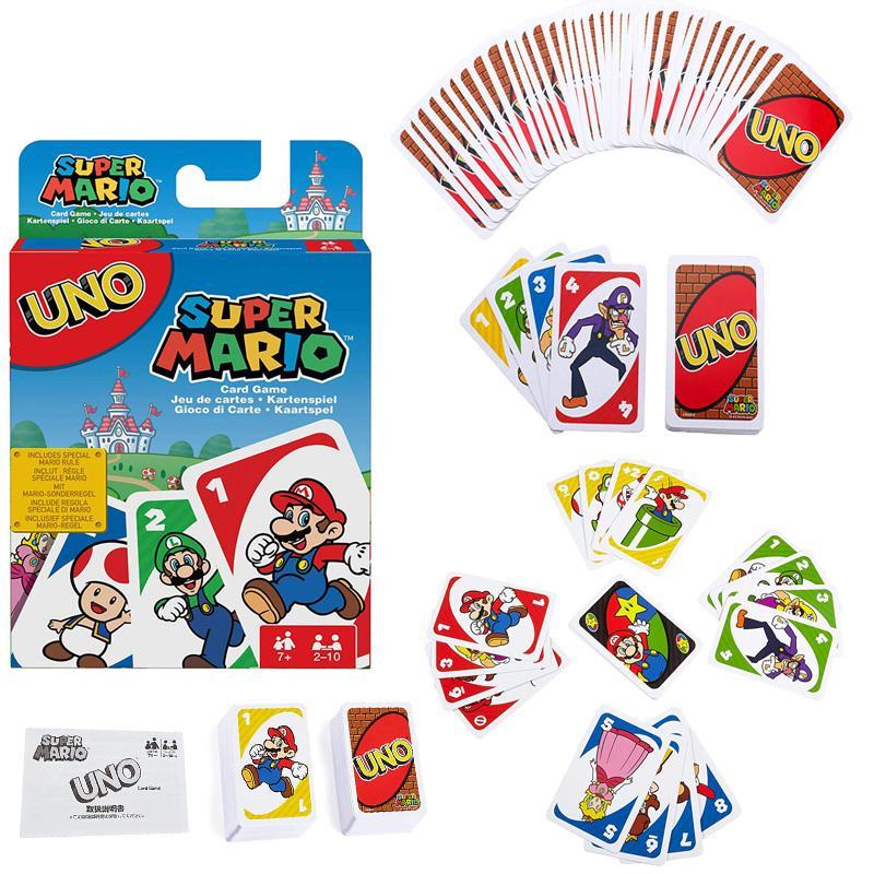 Игра для игры в супермарио UNO MATTEL, карты для семейных игр, Забавные Развлечения, настольная игра, покер, детские игрушки