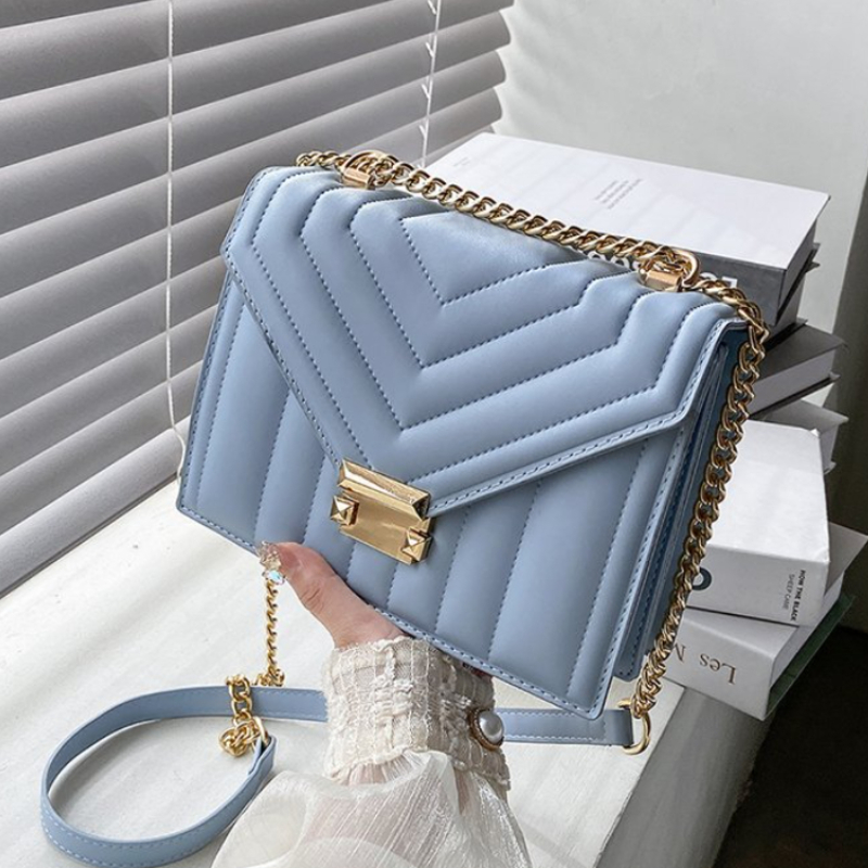 2021 Candy Color V-line Crossbody Bag for Women Fashion Sac A Main Female Shoulder Bag Female Handbags and Purses with Handle