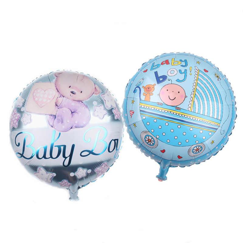 10 piezas/lote 12 pulgadas globos de fiesta de bebé es un niño es un género globos de niña mostrar decoraciones de fiesta de cumpleaños suministro de globos