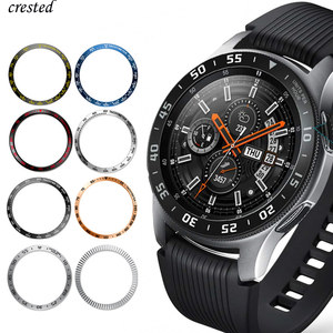 Metal cover For Samsung Galaxy Watch 46mm/42mm Case Gear S3 Frontier/Classic sport Adhesive Cover band strap Accessories 46/42 3(China)