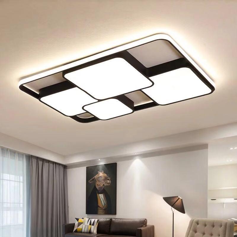 New Style Living Room Lamp Modern Minimalist Glorious Ceiling Light Rectangular Bedroom Lamp LED Ceiling Lamp Lighting Lamps